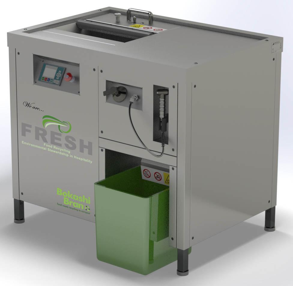 Macerating and dewatering machine